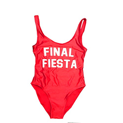 shifeier One Piece Swimsuit, Final Fiesta Cute Swimwear Bodysuit Monokini High Cut Bathing Suit Summer Top Swim Suit Girls (Red Final Cut)