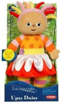 INSOLITE RARE In The Night Garden UPSY DAISY Soft Plush Toy Avec Squeaky ventre
