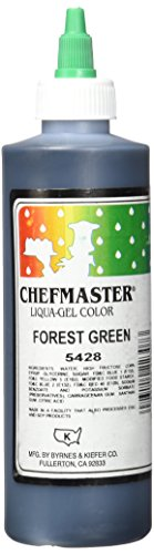 Chefmaster Liqua-Gel Food Color, 10.5-Ounce, Forest Green