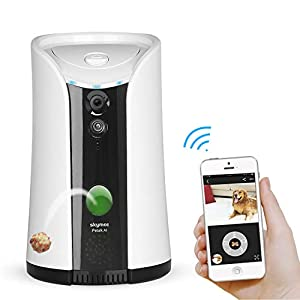 SKYMEE Dog Camera Treat Dispenser,WiFi Full HD Pet Camera with Two-Way Audio and Night Vision,Compatible with Alexa…