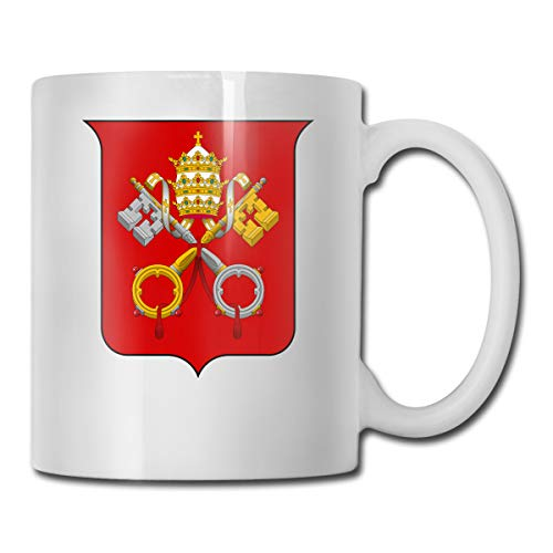 Riizm-mug Funny Mugs Coat Of Arms Of Vatican City Coffee Cup 11-oz Coffee Cup