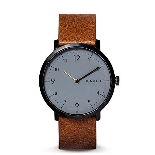 HAVET | Reloj de hombre · Barents Special Edition · reloj de acero color antracita con correa de piel y correa adicional: Amazon.es: Relojes