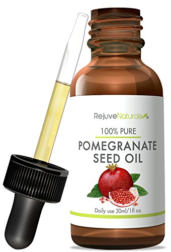 Pomegranate Seed Oil, 100% Pure, Cold Pressed & Unrefined by RejuveNaturals. Moisturizing Oil for Skin & Hair No GMOs, Pesticides, or Hexane ()