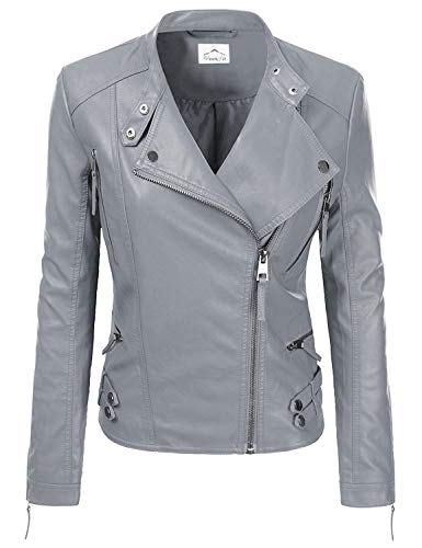 (VearFit Women Jacqueline Designer Red, Pink, Tan, Gray, Black and Brown Real Lambskin Leather Jacket)