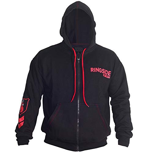 Ringside Industry Domination Hoodie, Black/Red, Medium