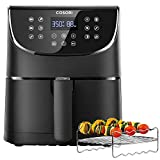 COSORI Air Fryer 5.8QT(Rack &5 Skewers)1700W Electric Hot Air Fryers Oven Oilless Cooker,11 Presets,Preheat&Shake Reminder, LED Touch Digital Screen,Nonstick Basket,2-Year Warranty, Black(100 Recipe) Larger Image