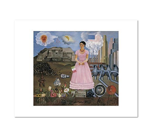 1000Museums Self-Portrait on The Borderline Between Mexico and The United States by Frida Kahlo, 1932. Art Print