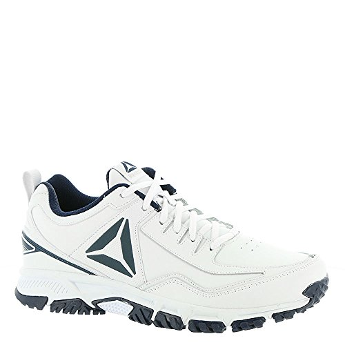 Reebok Mens Ridgerider Läder 4e Sneaker Vit / Coll. Navy - Bred E