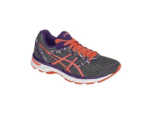 ASICS Women's Gel-Excite 4 Running Shoe, Shark/Flash Coral/Parachute Purple, 7 W US