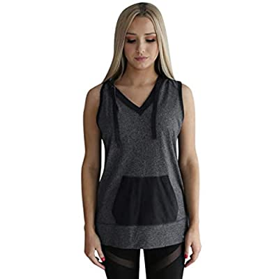 Summer Tops,Women Casual Loose Sport Yoga Sleeveless Hooded Pocket Shirt Tops Tank Blouse by Youngh