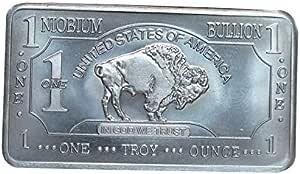 Sale ! ! 2 × 1 g Niobium Barren 999,1 × Büffel und 1 × Bär