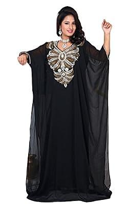 IndianAttire Women's Wedding Dress Farasha Kaftan Caftan Abaya Long Maxi Top