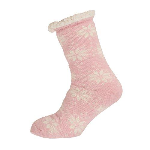 Aler Mujeres / Señoras Thermal Snowflake Design Zapatillas Co-zees (1 Par) Rojo