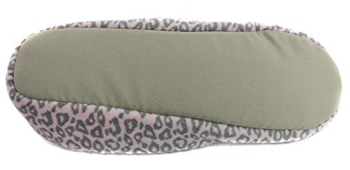 Animal Snuggle Women's Slippers Pink Print Feet Grey Plush 6qtxwgOq