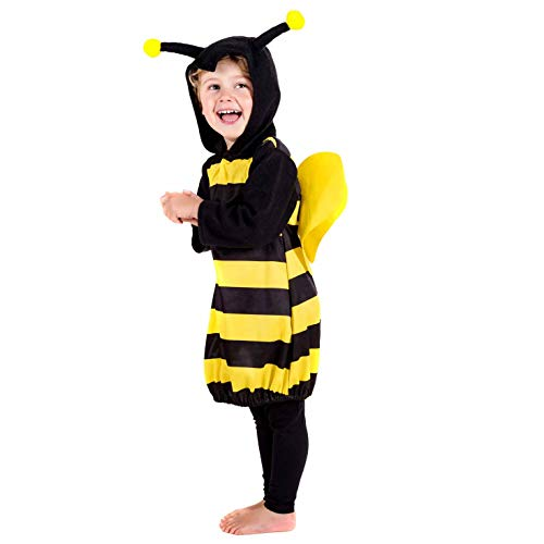 Bee Child Costumes - Toddlers Bumble Bee Costume Kids Unisex Cute Animal Bumblebee Suit - 3-4
