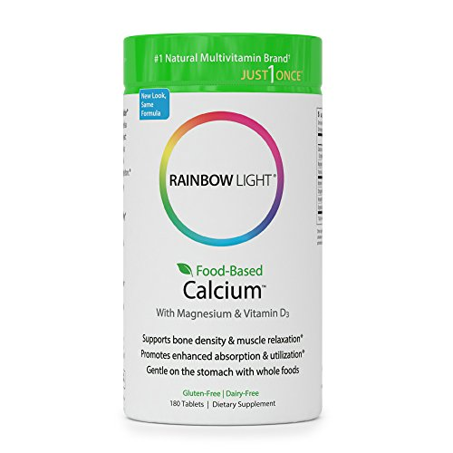 Rainbow Light - Food-Based Calcium - Supports Bone Density, Muscle Relaxation, & Calcium Absorption - 180 Tablets