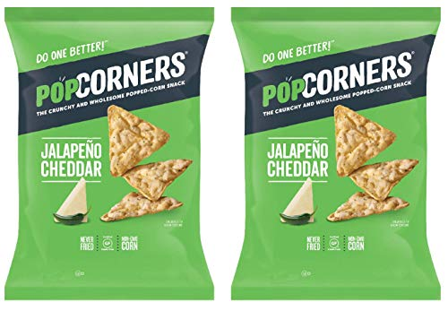 PopCorners PopCorn Snack Chips Pack of 2 5oz Bags (Cheesy Jalapeno PopCorners) (Popcorner Jalapeno)
