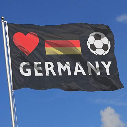 TAOHJS76 Fashion Home Backyard Garden Flag Germany Football German Soccer 100% Polyester Single Layer Translucent Flags 3 X 5 -