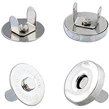 100 Sets Silver Tone Magnetic Purse Snap Clasps/ Closure Purse Handbag 14mm (14mm-100)