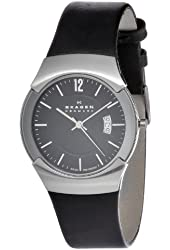 Skagen Men's 981XLSLB Stainless Steel Black Dial Watch
