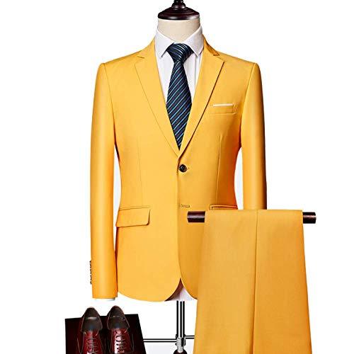 Yellow D'affaires Robe Décontracté Homme Xdljl Parties Costume En Banquet Multicolore Deux Mariée Option De aROqnTIn