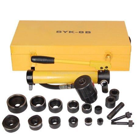 10 ton Hydraulic Metal Hole Punch Hole-driver Kit Tool Set