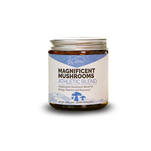 Magnificent Mushrooms (Athletic Blend) ATP Energy, Improve Recovery, Stamina, Organic, Adaptogen, Reishi, Chaga…