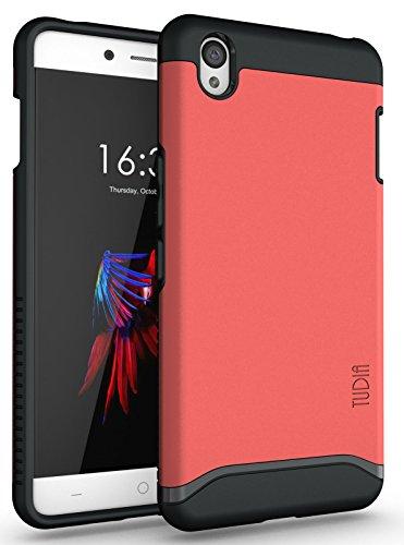 OnePlus X Funda, Caja protectora TUDIA Slim-Fit MERGE de doble capa para OnePlus X (Menta) Rosa