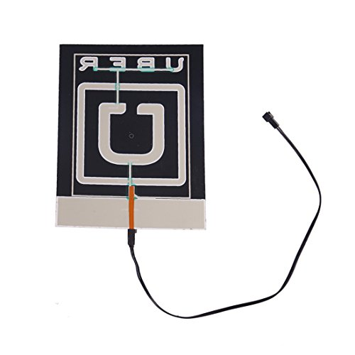 LUJII Glow Sign Light Kit For Uber NO Batteries Required Car Charger Powered
