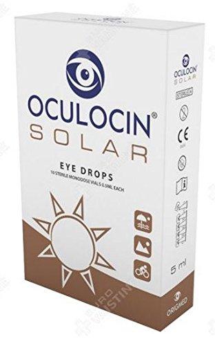Natural Eye Drops OCULOCIN Solar with Propolis and antioxidants (10 MONODOSE VIALS, 0.5ML Each)