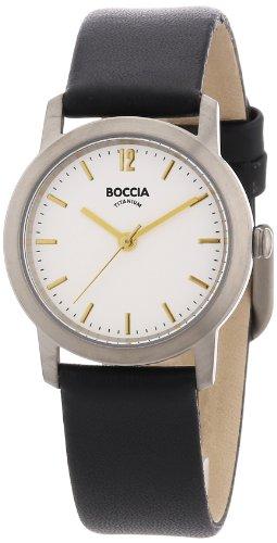 Boccia B3170-02 Ladies Titanium White Dial Watch