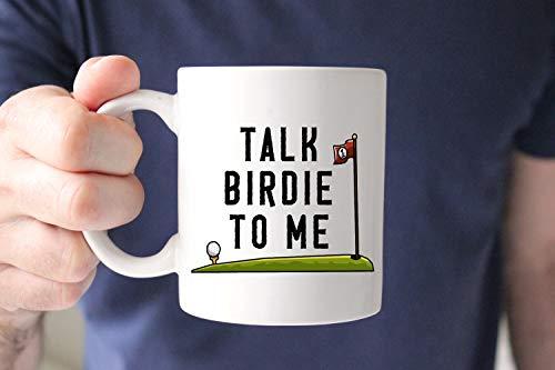 (Talk Birdie to Me Mug, Golf Mug, Gift for Golfer, Golf Gift, Golfing Gift, Father39;s Day mug, Fathers day, Dad gift, golfing, Funny mug, cup)