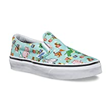 Vans - Unisex-Child Classic Slip-On Shoes, 5.5 M US Big Kid, (Toy Story) Andy'S Toys/Blue Tint