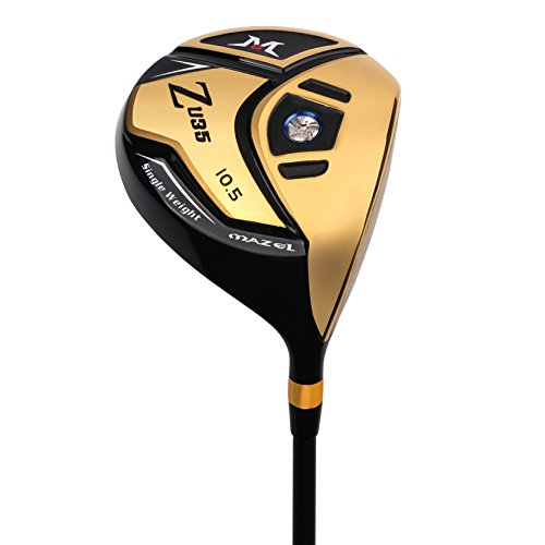 MAZEL Titanium Golf Driver for Men,Right Handed,460CC (Golden 10.5 Degree)