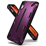 Ringke [Dual-X] Compatible with iPhone XR Case Dual-Layer Reinforced Heavy Duty Defense [Shock Absorption] Ergonomic Reassuring Grip Armor Protective Cover for Apple iPhone XR (2018) - Metallic Purple