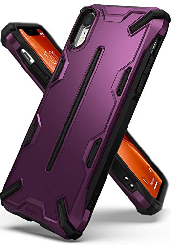 Ringke Dual-X Compatible with iPhone XR Case Dual-Layer Reinforced Heavy Duty Defense [Shock Absorption] Ergonomic Reassuring Grip Armor Protective Cover for iPhone XR 6.1 (2018) - Metallic Purple