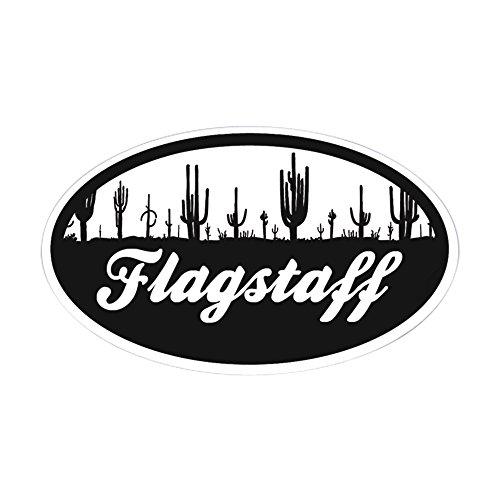 CafePress - Flagstaff AZ Flag - Oval Bumper Sticker, Euro Ov