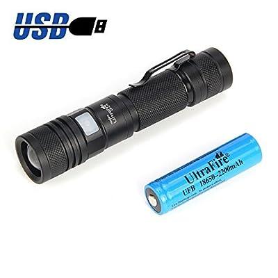 Ultrafire Torche Rechargeable Lampe Avec Batterie 18650 Li Ion Piles