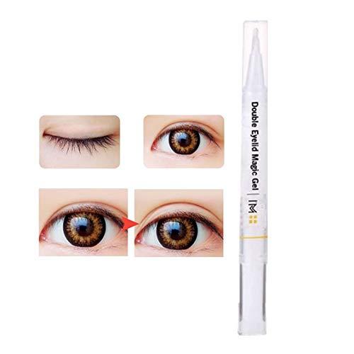 ErYao Double Eyelid Glue, Magic Invisible Double Eyelid Styling Cream, Liquid Eyelid Tape Stickers Cream, Eyelid Styling Pen Gel Double Eyelid Serum Make Eyes Bigger (Clear)