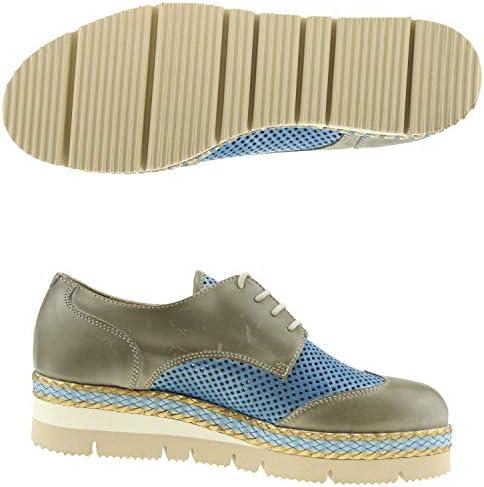Accatino - Scarpe da Donna con Lacci e Guanti con Plateau, Colore: Grigio
