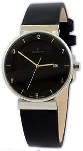 Dugena 4427238 - Reloj analógico de caballero de cuarzo con correa de piel negra