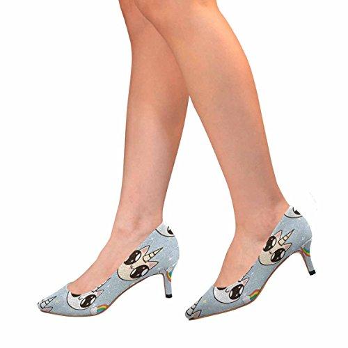 Scarpe Da Donna Low Cost Con Tallone Gattino A Punta Svasata Scarpe Da Ginnastica Unicorno E Un Arcobaleno Multi 1