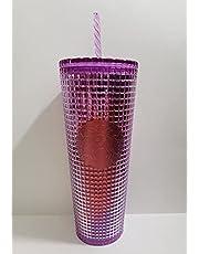 Starbucks 2021 Summer Purple and Reddish-hue Grid Kaleidoscope 24 oz Venti Tumbler