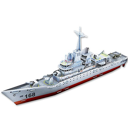 NimNik Ships Frigate 3D Puzzles for Kids Educational Fun Construction 3d Jigsaw Puzzle for Adults, Boys, Girls and Teenagers. Perfect Gift Ideas - 48 pieces.
