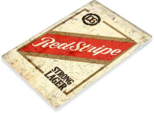 "(Tinworld TIN Sign ""Red Stripe Beer Old"" Lager Metal Decor Art Bar Pub Shop Store A776 )"