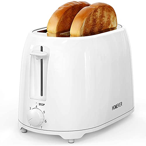 HOMEVER Toaster 2 Slice, White Toaster Best Rated Prime, 7 Bread Settings White Toaster with 1.5 Inch Wide Slot and…