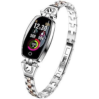 2018 Metal Smart Bracelet for Women Girls - Blood Pressure/Heart Rate Monitor Smart Bracelet