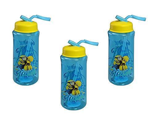 3-Pack Despicable Me Minions 14.5oz Tritan Flip N Sip Kids' Water Bottles, BPA-Free