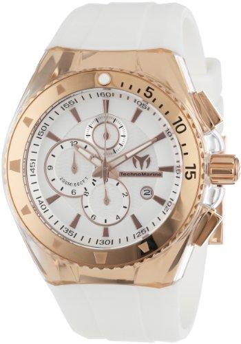 TechnoMarine Men's 110050 Cruise Original Star Chronograph Silver Dial Watch
