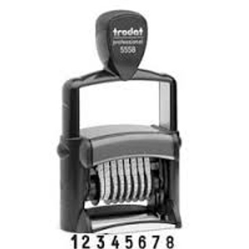 Trodat Professional 5558 - 8 Digit Self-Inking Numberer - 5mm (0.2